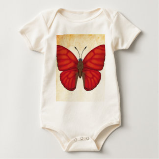 Blood Red Glider Butterfly Baby Bodysuit