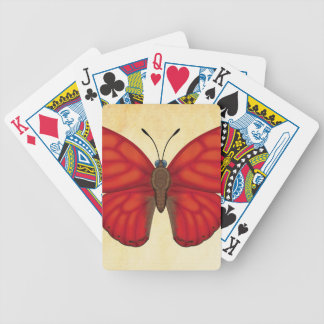 Blood Red Glider Butterfly Bicycle Playing Cards