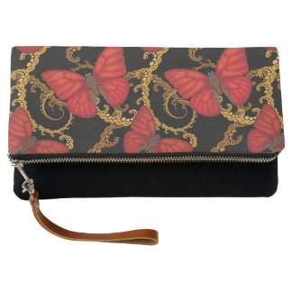 Blood Red Glider Butterfly Clutch