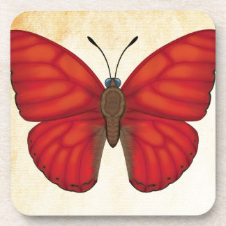 Blood Red Glider Butterfly Coasters