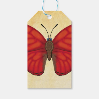 Blood Red Glider Butterfly Gift Tags