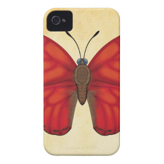 Blood Red Glider Butterfly iPhone 4 Case-Mate Cases