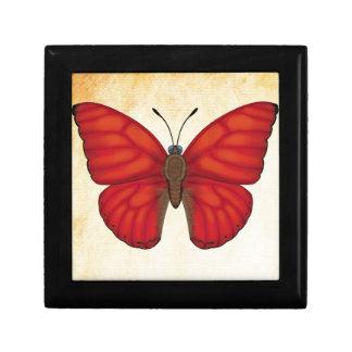 Blood Red Glider Butterfly Keepsake Box