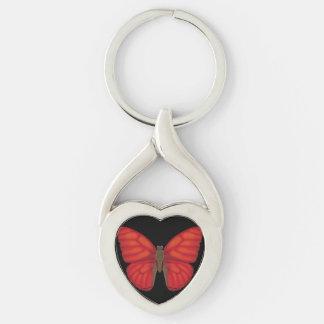 Blood Red Glider Butterfly Keychain