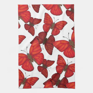 Blood Red Glider Butterfly Kitchen Towel