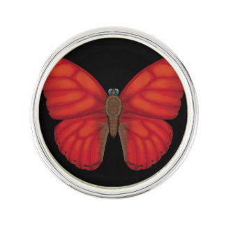 Blood Red Glider Butterfly Lapel Pin