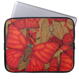 Blood Red Glider Butterfly Laptop Sleeve