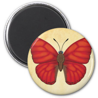 Blood Red Glider Butterfly Magnet