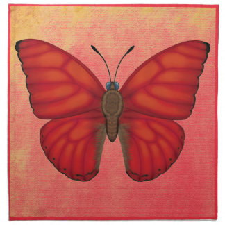 Blood Red Glider Butterfly Napkin