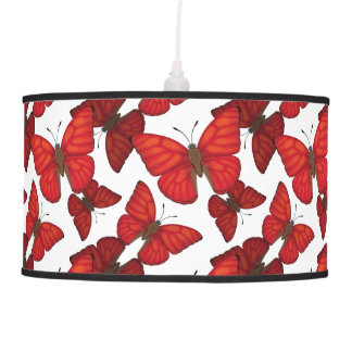 Blood Red Glider Butterfly Pendant Lamp