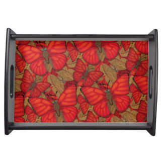 Blood Red Glider Butterfly Serving Tray