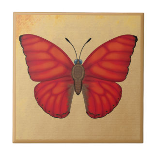 Blood Red Glider Butterfly Tile