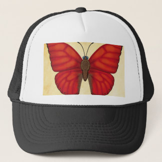 Blood Red Glider Butterfly Trucker Hat