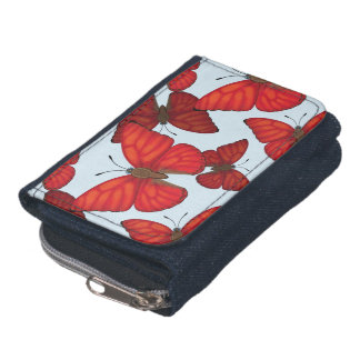 Blood Red Glider Butterfly Wallet