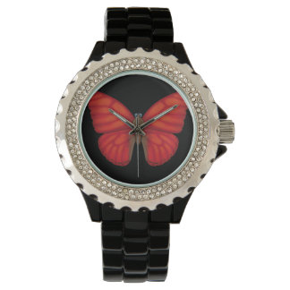 Blood Red Glider Butterfly Watch