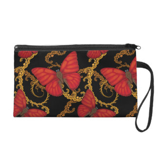 Blood Red Glider Butterfly Wristlet