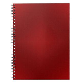 Blood Red Gradient - Customized Dark Red Template Spiral Notebook