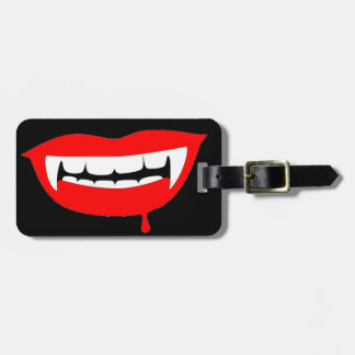 Blood Red Lips Luggage Tag