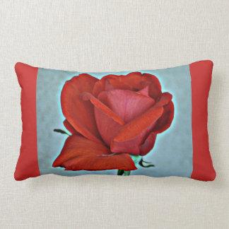 Blood Red Rose Lumbar Accent Pillow