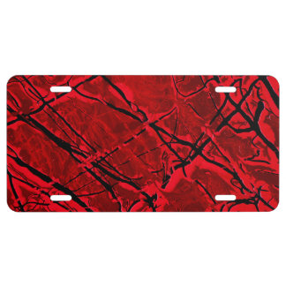 BLOOD RED ROYALE ~ LICENSE PLATE