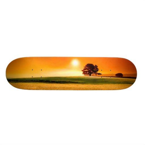 Blood-Red Sunset Skate Deck