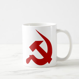 Blood Red Thick Neo-Hammer & Sickle Mug