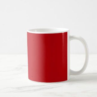 Blood Red Trend Color Customized Template Blank Mugs