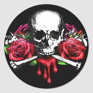 Blood Rose Classic Round Sticker