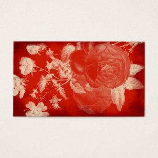 blood rose romantic business card