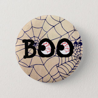 Blood Shot Boo Eyeballs Halloween Button