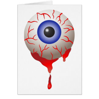 Blood Shot Eye Greeting Card
