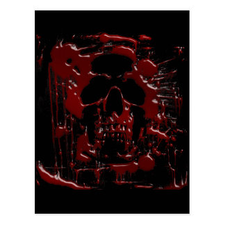 Blood Skull Postcard
