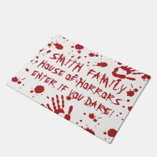 Blood Soaked Bloody Hand Print Custom Halloween Doormat