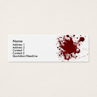 Blood Spatter Card
