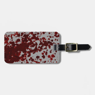 Blood Spatter Luggage Tag