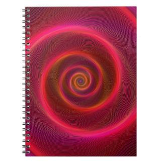 Blood spiral spiral note book
