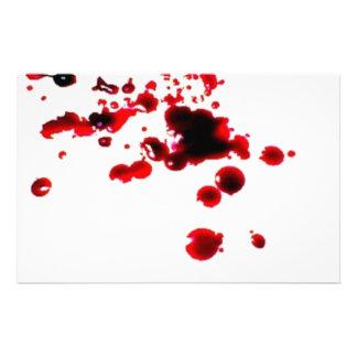Blood splatter 2 creepy Halloween stationary Stationery