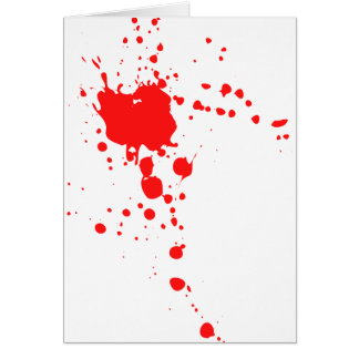 Blood Splatter Card