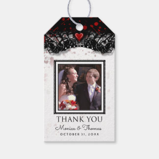 Blood Splatter Halloween Wedding Photo Thank You Pack Of Gift Tags