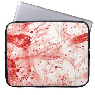 Blood Splatter Mess Computer Sleeve