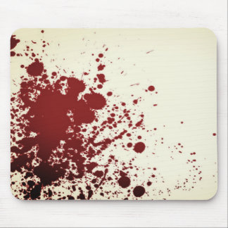 Blood Splatter Mouse pad
