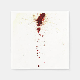 Blood Splatter on the Wall Disposable Napkins