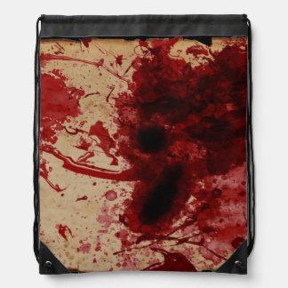 Blood Splatter Drawstring Backpacks