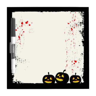 Blood Splatter Pumpkin Halloween Whiteboard