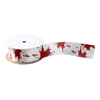 Blood Splatter Satin Ribbon