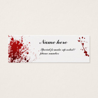 blood splatter sheen business card
