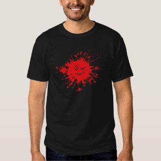 Blood splatter smilie face shirt