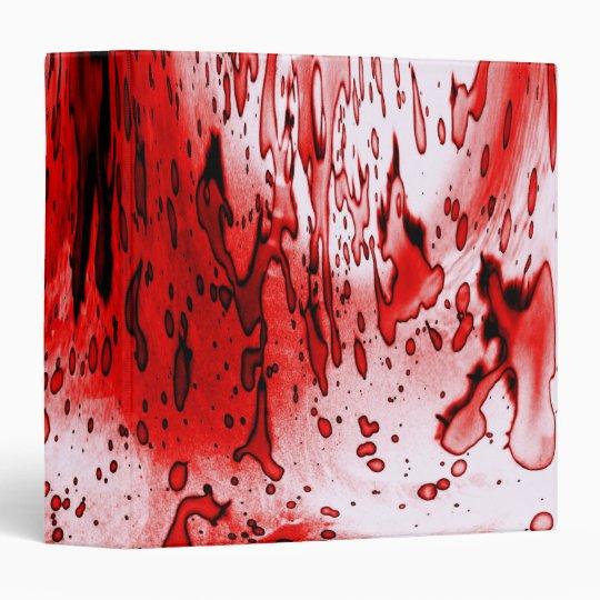 Blood Splatter Vinyl Binder