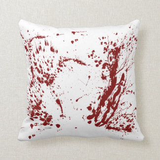 Blood splattered cushion