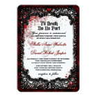 Blood Splattered Halloween Wedding Invitation